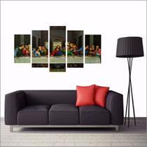 Quadro Santa Ceia Decorativo Mosaico 5 Peças 200x100 - Quadros Mais