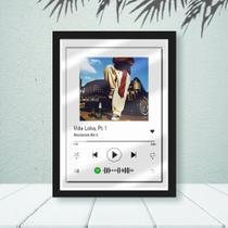 Quadro Spotify Racionais -Vida Loka C/ Vidro 33x25 Quarto - Foto Paint