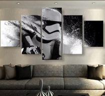 Quadro Star Wars Storm Trooper Hd 5 Peças Mosaico - Neyrad