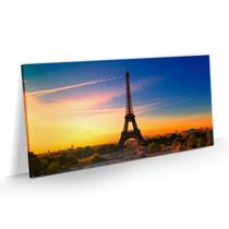 Quadro Torre Eiffel Paris Decorativo Pôr do Sol Sala 80x40 - Bimper