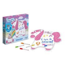 Quadro Unicornio com Canetinhas e Apagador, Xalingo  Xalingo Brinquedos -