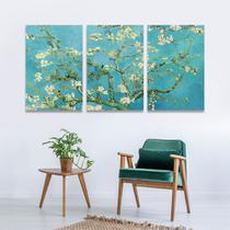 Quadro Van Gogh Amendoeira em flor 120x60 Decorativo Mosaico - Iquadros