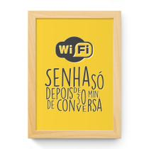 Quadro Wi-Fi 33x24cm com Moldura Natural e Vidro - Decorando Shop