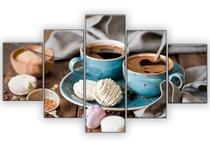 Quadro Xicaras Café 5 Peças Mosaico Mdf 6mm - Neyrad
