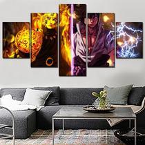 quadros 5 peças alma de naruto sasuke imagem abstrata - KyMe