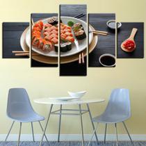 quadros 5 peças para restaurantes japonês sushi - KyMe