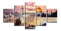 Quadros Decorativo Israel Mosaico 5 Peças - Premium Art Decoracoes