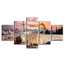 Quadros Decorativo Israel Mosaico 5 PeçasQuadros Decorativo Israel Mosaico 5 Peças - Mr Decorações / Paradecoração