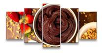 Quadros decorativos 5 peças açai para sorveteria restaurante - KyMe