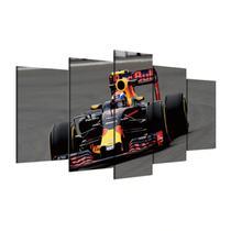 Quadros decorativos 5 peças carro corrida formula 1 - KyMe