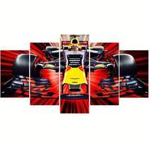 Quadros decorativos 5 peças formula 1 carro corrida - KyMe