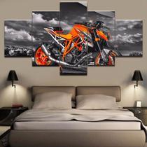 Quadros decorativos 5 peças motos - Quadros Kyme