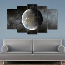 quadros decorativos 5 peças Planeta Espaço galaxia - KyMe