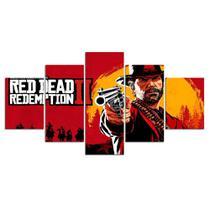 QUADROS DECORATIVOS 5 PEÇAS Red Dead Redemption 5 JOGOS GAME - Kyme