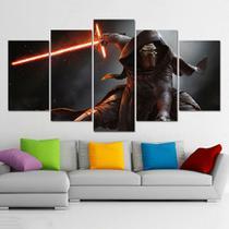quadros decorativos 5 peças star wars filmes games - KyMe