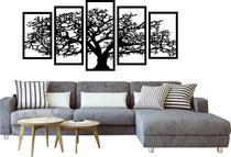 Quadros Decorativos Arvore Da Vida Mosaico Sala Quarto Preto - L&C Laser