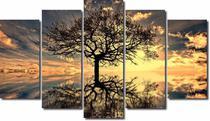 Quadros Decorativos Arvore da Vida para Sala 5 peças -