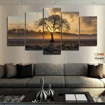 Quadros Decorativos Arvore Por Do Sol 63x130mt em Tecido - Wall Frame