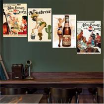 Quadros Decorativos Bebidas Bar Mulheres Para Interiores - Quadros mais