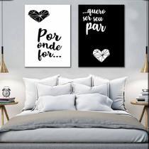 Quadros Decorativos Casal Por Onde Você For - Arte Quadro