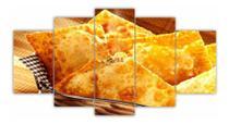 Quadros Decorativos Cozinha 5 Peças Mosaico Pastel Delicioso - Decorestudio