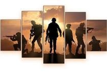 Quadros Decorativos Exécito Soldados Armas - Mr Decorações / Paradecoração