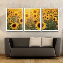 Quadros decorativos Flores Girassois 30x40cm de vidro - Zeegposters