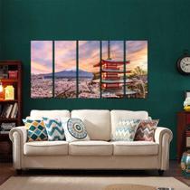 Quadros Decorativos Japão Oriental 65x140cm em Tecido - Wall frame