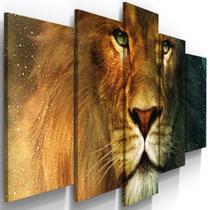 Quadros Decorativos Leão de Judá Animal Sala Quarto - Loja Wall Frame