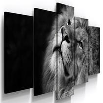 Quadros Decorativos Leão Judá Preto Branco Quarto - Loja wall frame