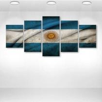 Quadros Decorativos Mosaico 5 Peças Argentina - Decorestudio