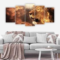 Quadros Decorativos Mosaico Leão Judá - Adoro Decor