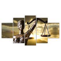 Quadros Decorativos Mosaico MDF Advocacia Justiça 115x60cm - X4Adesivos