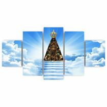 Quadros Decorativos Mosaico MDF Nossa Senhora Aparecida 115x60cm - X4Adesivos