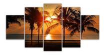 Quadros Decorativos Mosaico Mdf Pôr Do Sol 115x60cm - Paradecoração