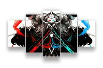 Quadros Decorativos One Piece Roronoa Zoro Mosaico 5 Peças - Paradecoração