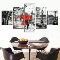 quadros decorativos para sala 5 casal romantico paris - KyMe