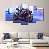quadros decorativos para sala 5 peças Kawasaki ninja zx 10r - KyMe