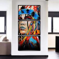 Quadros Decorativos para Sala Quarto Mosaico India Apache - Clic Store
