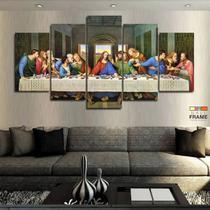 Quadros Decorativos Santa Ceia 63x130mt em Tecido - Wall frame