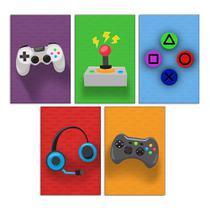 Quadros Gamer Kit 5 20x30cm Video Game Jogo Decorativo Quarto menino - D.Lima produtos