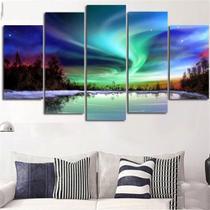 Quadros Mosaico Aurora Boreal - Mr Decorações / Paradecoração