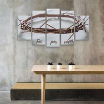 Quadros Mosaico Coroa De Espinhos Jesus Foi Por Nos - Premium Art Decoracoes