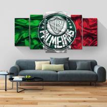 Quadros mosaico  palmeiras 5 peças med. 120x60 ps 2mm adesivo fosco impressão fotografica - Atitude Signs