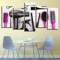 quadros para salão de beleza cabeleireiro equipamentos rosa - KyMe