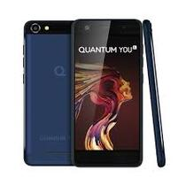 Quantum YOU 4G 32GB Azul Smartphone Quad-Core 3GB RAM Duas Câmeras 13MP Tela HD 5 Android 7 - Positivo
