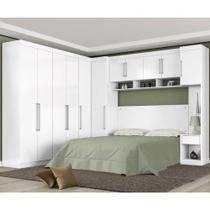Quarto Casal Modulado Modena Branco 07 Peças Composição 10 Branco Demobile -