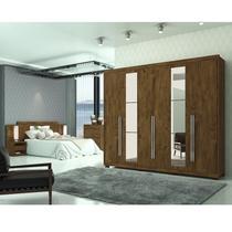 Quarto Completo Casal Barcelona Castanho Wood Moval -