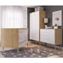 Quarto Completo Infantil 03 Peças CBINF17 Itapua Branco Completa Moveis - Completa Móveis