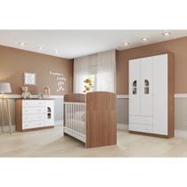 Quarto de Bebê Completo Bolinha de Sabão R3 - Avelã/Branco - Multimóveis